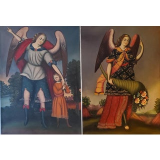 Vintage Portugese Santos Paintings - Set of 2 For Sale