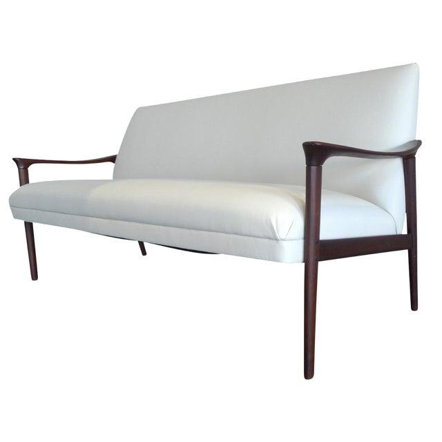 Vintage Ole Wanscher Danish White Sofa - Image 1 of 6