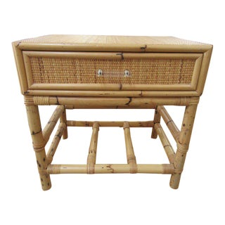 Bamboo Seagrass Wrapped Nightstand