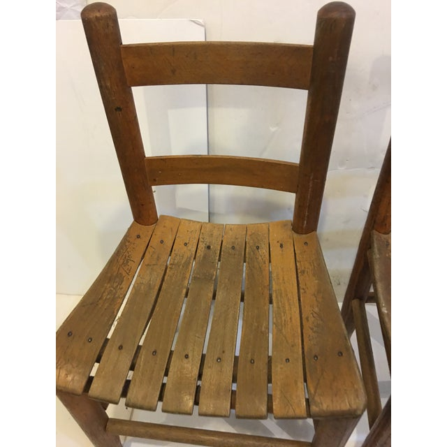 1950s Vintage Rustic Children Chairs - a Pair For Sale - Image 5 of 8