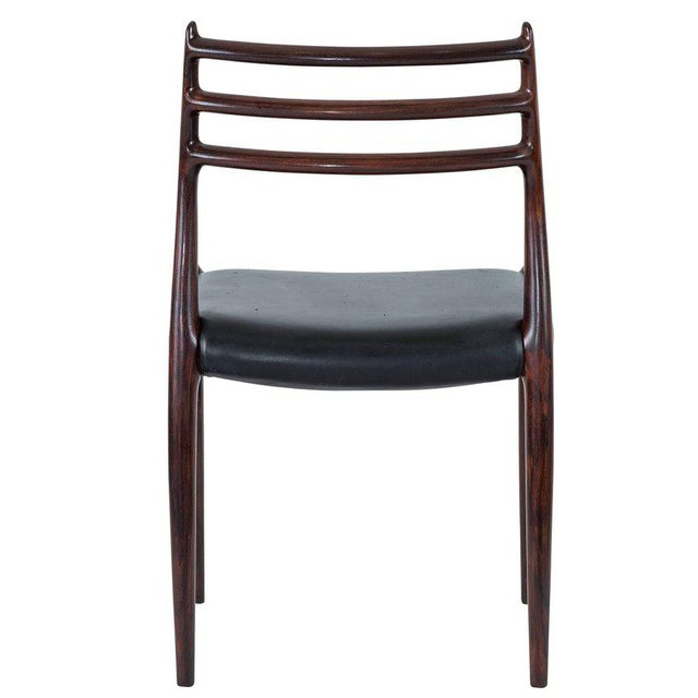 Set of Six Niels Møller Dining Chairs Model #78 For Sale In Los Angeles - Image 6 of 10