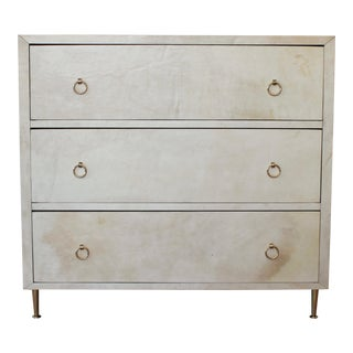20th Century Modern Parchment Dresser For Sale