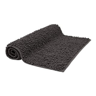 "Bramble Bath Rug 25"" x 39"" in Charcoal For Sale"
