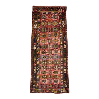 Vintage Persian Azerbaijan Carpet Runner with Modern Tribal Style, Azeri Rug For Sale