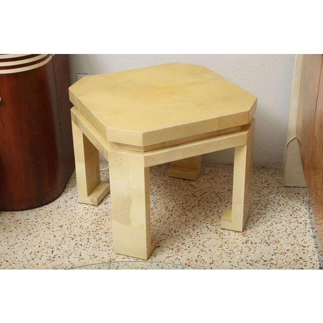 Gold Large Enrique Garces Parchment End Table For Sale - Image 8 of 10
