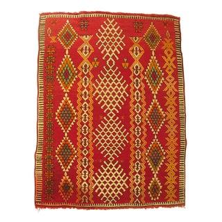 "Moroccan Berber Tribal Abstract Rug - 3'10"" X 5'"