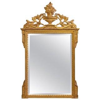 Vintage Italian Neoclassical Gilt Mirror For Sale