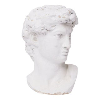 Plaster Grecian Head Sculpture