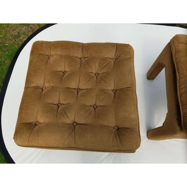 Milo Baughman Style Parson Ottomans - a Pair For Sale In Cleveland - Image 6 of 9