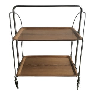 1950s Mid Century Collapsable Bar Cart For Sale
