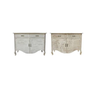 Meryl Two Drawer Cabinets - A Pair For Sale