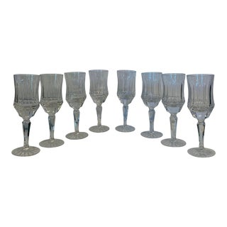 Galway Crystal Old Galway Claret Wine Glasses - Set of 8 For Sale