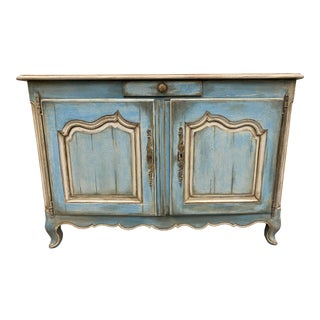 French Antique Louis XV Style Painted Buffet - 19th C For Sale
