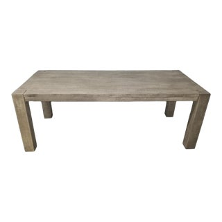 """Rustic Restoration Hardware Reclaimed Russian Oak Parsons Rectangular Dining Table 60"""" For Sale"""