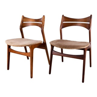 1960s Vintage Erik Buch for Christian Christensen Model 310 Dining Chairs in Rosewood - Set of 2 For Sale