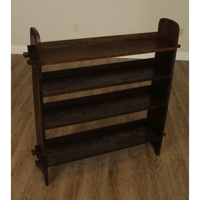 Mission Antique Mission Arts & Crafts Oak Bookshelf For Sale - Image 3 of 13