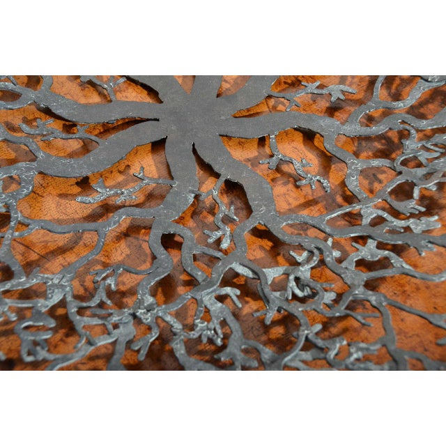Hand-Forged Iron Coral Bowl - Image 4 of 6