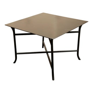 1970s Mid Century Modern Widdicomb Coffee Table With Skinny Legs Crossing For Sale
