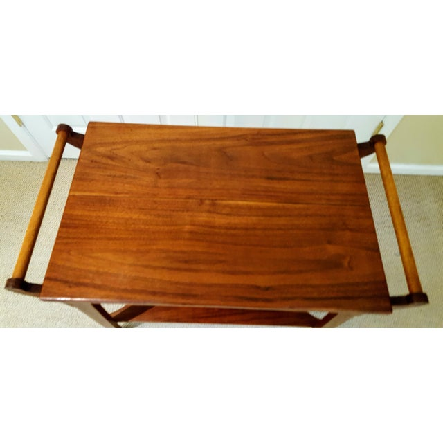 Mid-Century Teak Serving Cart - Image 4 of 6