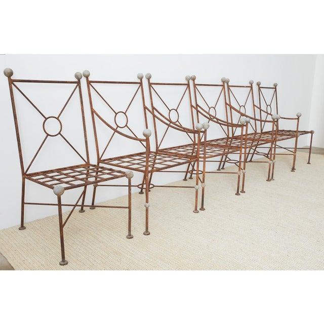 Mid-Century Modern Set of Six Mario Papperzini for Salterini Style Garden Chairs For Sale - Image 3 of 13