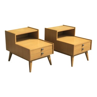 1960s Mid Century Modern Hekman Nightstands - a Pair For Sale