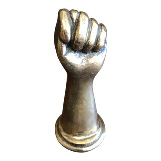 18th or 19th Century Bronze Fist For Sale