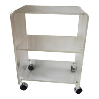 Vintage Lucite Mid Century Cart Bar For Sale