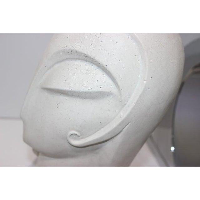 Art Deco Vintage Art Deco Revival Fisher Sculpture Woman's Head Austin Productions Reproduction For Sale - Image 3 of 12