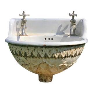 Antique 1930s Porcelain Sink For Sale