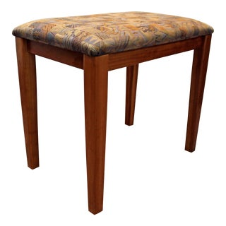 PBJ Mobler Danish Modern Teak Vanity Stool/Bench For Sale