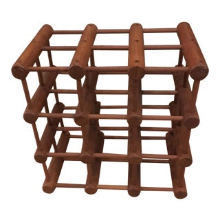 Richard Nissen Teak Wine Rack For Sale
