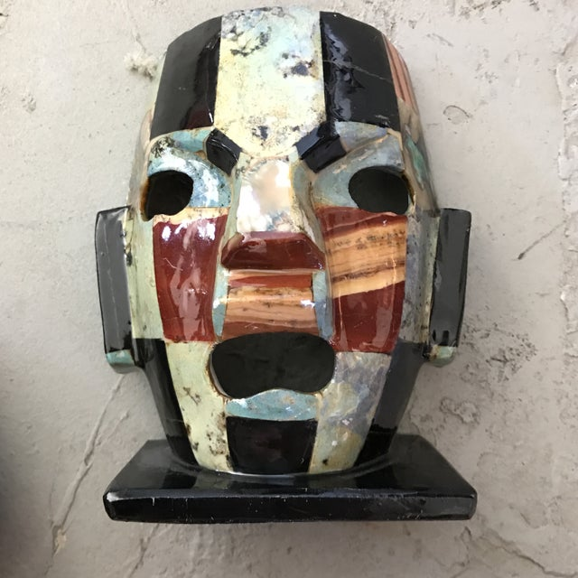 Mother of Pearl Gemstone Mosaic Mask For Sale - Image 5 of 5