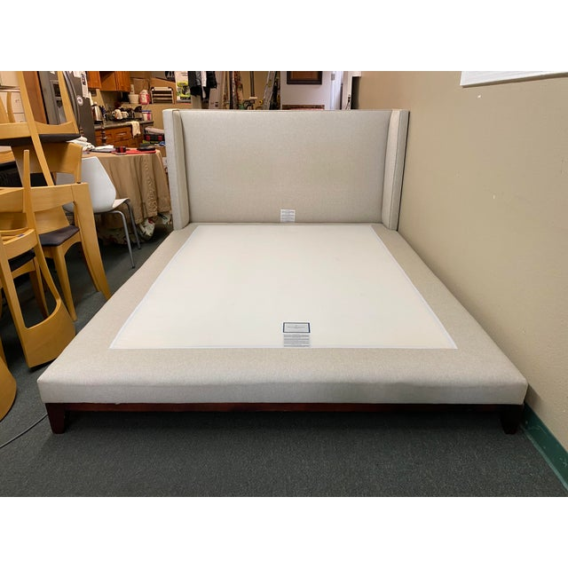 Queen Size Williams-Sonoma Home Presidio Platform Bed Frame For Sale - Image 13 of 13