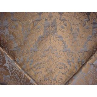 Kravet Couture 24354 Limoges Cerulean Blue Silk Damask Upholstery Fabric- 7-3/8 Yards For Sale