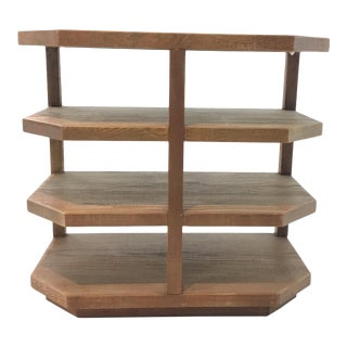 Caracole Transitional Four Tier Medium Wood End Table For Sale