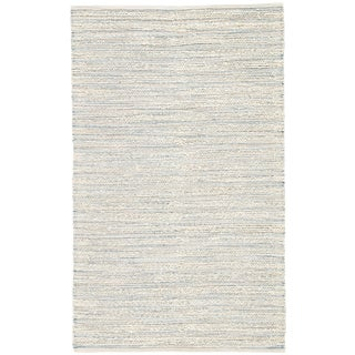 Jaipur Living Canterbury Natural Striped White/ Blue Area Rug - 2′6″ × 4′ For Sale