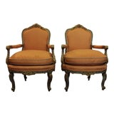 Image of Vintage Louis XVI Style French Fauteuils- A Pair For Sale