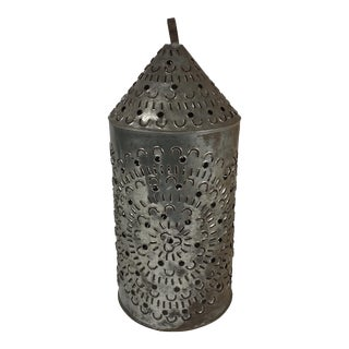 Moroccan Pierced Metal Pillar Candle Cover