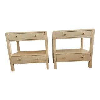 Made Goods Faux Horn Nightstands - a Pair For Sale