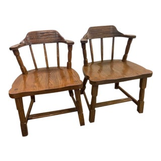 Brandt Oak Mates Chairs - a Pair For Sale