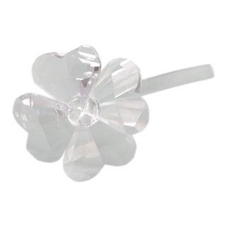 Vintage Swarovski Crystal Four-Leaf Clover Flower Figurine