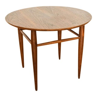 Mid Century Mersman Walnut Wood Round Accent End Table