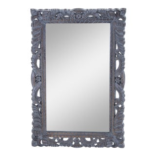 Spanish Inspired Mission Wood Carved Frame Mirror