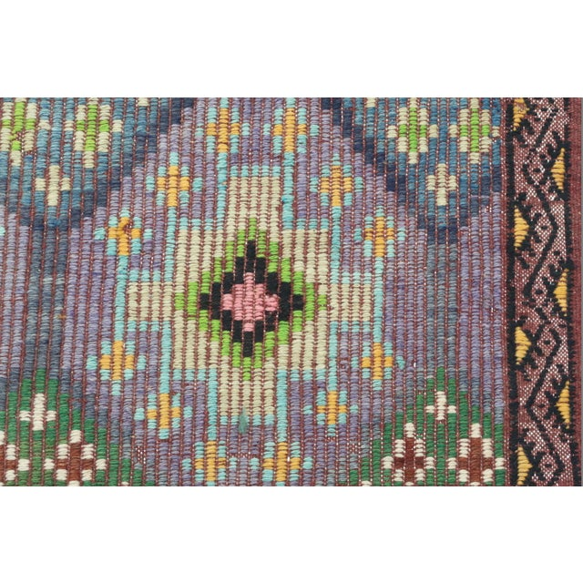 Vintage Turkish Sardes Nomad's Flat Weave Rug For Sale - Image 11 of 12