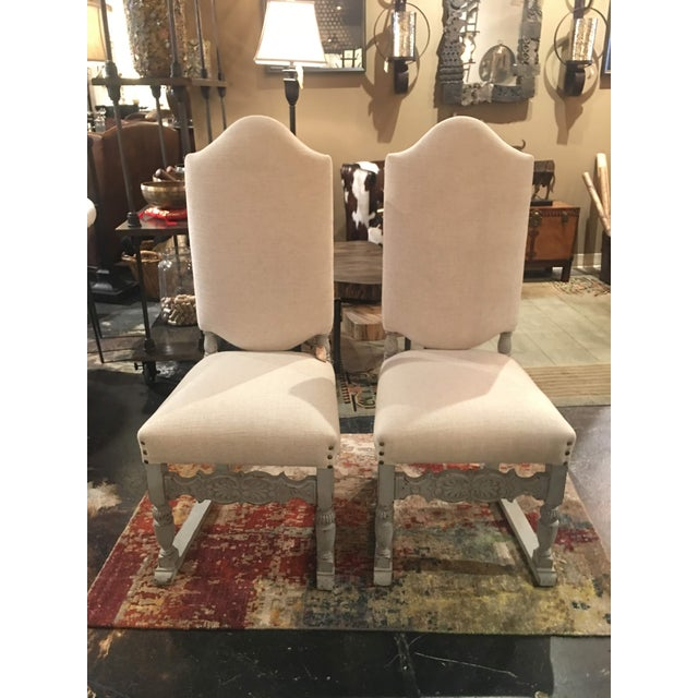 1910s French Grey Distressed Painted Chairs - a Pair For Sale - Image 13 of 13