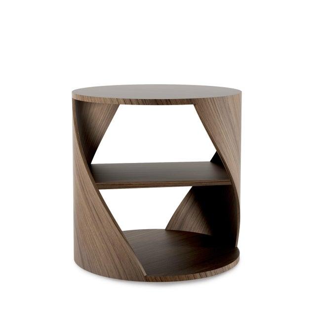 Mydna Teak Decorative Side Table by Joel Escalona For Sale - Image 10 of 10