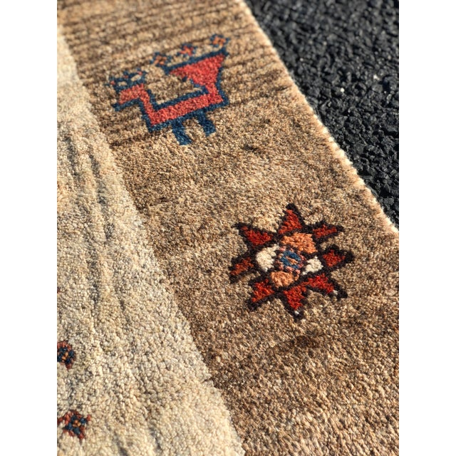 1970s Vintage Persian Gabbeh Rug - 4′9″ × 8′3″ For Sale - Image 11 of 13