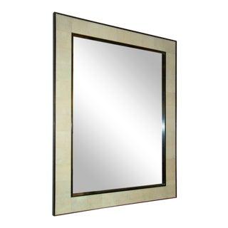 Custom Rectangular Shagreen Mirror For Sale