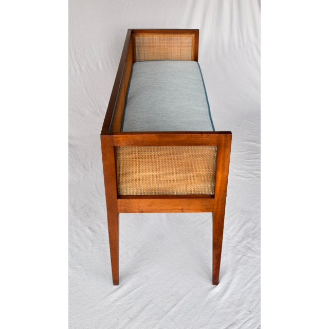 Chestnut 1950s Walnut Window Bench Attributed to Edward Wormley for Dunbar For Sale - Image 8 of 13