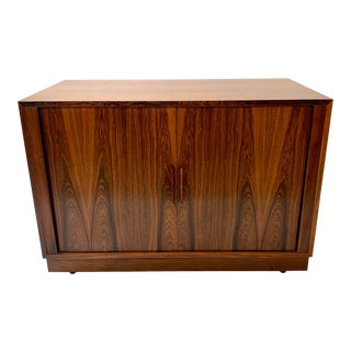1960s Kai Kristiansen Rosewood Cabinet With Tambour Doors For Sale
